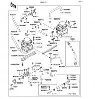 キャブレタ ZZR250 1990(EX250-H1) - Kawasaki純正部品