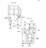 クランクケースボルトパターン ZZR250 1990(EX250-H1) - Kawasaki純正部品