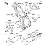 フレームフィッティング KX125 2002(KX125-L4) - Kawasaki純正部品