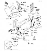 ラジエータ KX125 2002(KX125-L4) - Kawasaki純正部品
