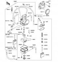 キャブレタ KX125 2002(KX125-L4) - Kawasaki純正部品