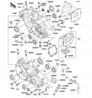 クランクケース KX125 2002(KX125-L4) - Kawasaki純正部品