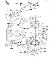 シリンダヘッド/シリンダ KX125 2002(KX125-L4) - Kawasaki純正部品