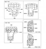クランクケースボルトパターン ZR-7S 2005(ZR750-H5) - Kawasaki純正部品