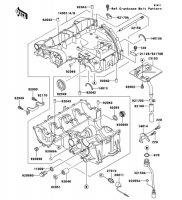 クランクケース ZZR400 1996(ZX400-N4) - Kawasaki純正部品