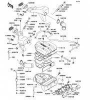 エアクリーナ ZZR400 1996(ZX400-N4) - Kawasaki純正部品