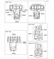 クランクケースボルトパターン ZEPHYR X 2005(ZR400-G9) - Kawasaki純正部品