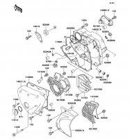 エンジンカバー ESTRELLA 1997(BJ250-B5) - Kawasaki純正部品