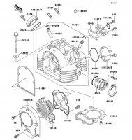 シリンダヘッド ESTRELLA 1997(BJ250-B5) - Kawasaki純正部品