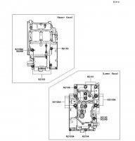 クランクケースボルトパターン Ninja 250 2013(EX250LDF) - Kawasaki純正部品