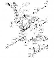 フレームフィッティング KDX125SR 1999(KDX125-A8) - Kawasaki純正部品