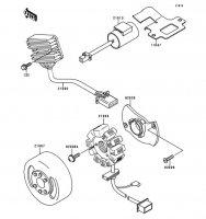 ゼネレータ KDX125SR 1999(KDX125-A8) - Kawasaki純正部品