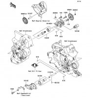 オイルポンプ KLX450R 2008(KLX450A8F) - Kawasaki純正部品