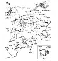 エンジンカバー KLX450R 2008(KLX450A8F) - Kawasaki純正部品