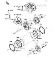 クラッチ KLX450R 2008(KLX450A8F) - Kawasaki純正部品