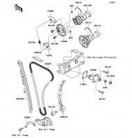 カムシャフト/テンショナ KLX450R 2008(KLX450A8F) - Kawasaki純正部品