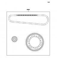 Chain Kit ZZ-R1100 2001(ZX1100-D9) - Kawasaki純正部品