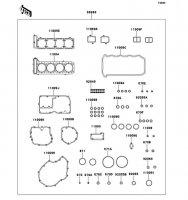 Gasket Kit ZZ-R1100 2001(ZX1100-D9) - Kawasaki純正部品