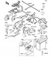 Chassis Electrical Equipment ZZ-R1100 2001(ZX1100-D9) - Kawasaki純正部品