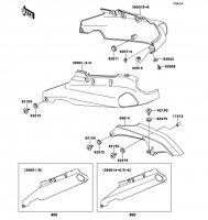 Side Covers/Chain Cover ZZ-R1100 2001(ZX1100-D9) - Kawasaki純正部品