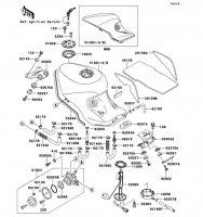 Fuel Tank ZZ-R1100 2001(ZX1100-D9) - Kawasaki純正部品