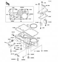 Breather Cover/Oil Pan ZZ-R1100 1999(ZX1100-D7) - Kawasaki純正部品