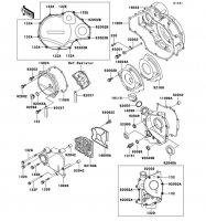 Engine Cover ZZ-R1100 1999(ZX1100-D7) - Kawasaki純正部品