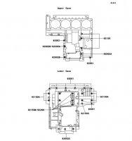 Crankcase Bolt Pattern ZZ-R1100 1999(ZX1100-D7) - Kawasaki純正部品