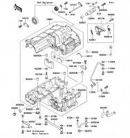 Crankcase ZZ-R1100 1999(ZX1100-D7) - Kawasaki純正部品