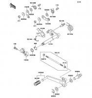Gear Change Mechanism ZZ-R1100 1999(ZX1100-D7) - Kawasaki純正部品