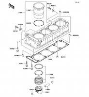 Cylinder/Piston ZZ-R1100 1999(ZX1100-D7) - Kawasaki純正部品