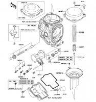 Carburetor Parts Ninja ZX-9R 2002(ZX900-F1) - Kawasaki純正部品