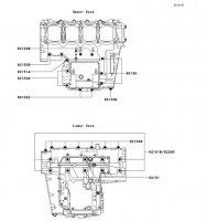 Crankcase Bolt Pattern Ninja ZX-9R 2002(ZX900-F1) - Kawasaki純正部品