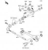 Gear Change Mechanism Ninja ZX-9R 2002(ZX900-F1) - Kawasaki純正部品