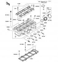Cylinder Head Ninja ZX-9R 2002(ZX900-F1) - Kawasaki純正部品