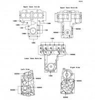 クランクケースボルトパターン ZEPHYR 750 1995(ZR750-C5) - Kawasaki純正部品