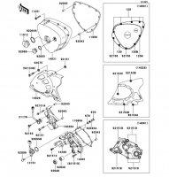 レフト エンジンカバー W400 2008(EJ400B8F) - Kawasaki純正部品
