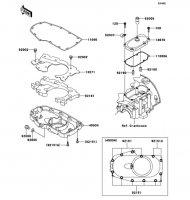 ブリーザカバー/オイルパン W400 2008(EJ400B8F) - Kawasaki純正部品