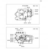 クランクケースボルトパターン W400 2008(EJ400B8F) - Kawasaki純正部品