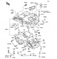 クランクケース W400 2008(EJ400B8F) - Kawasaki純正部品