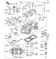 シリンダヘッド W400 2008(EJ400B8F) - Kawasaki純正部品