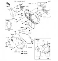 Left Engine Cover(s) VN2000 2004(VN2000-A1) - Kawasaki純正部品