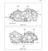 Crankcase Bolt Pattern VN2000 2004(VN2000-A1) - Kawasaki純正部品