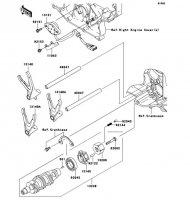 Gear Change Drum/Shift Fork(s)(A1) VN2000 2004(VN2000-A1) - Kawasaki純正部品