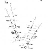 Push Rod VN2000 2004(VN2000-A1) - Kawasaki純正部品