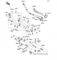 Muffler(s) VN2000 2004(VN2000-A1) - Kawasaki純正部品