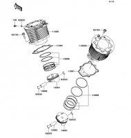 Cylinder/Piston(s) VN2000 2004(VN2000-A1) - Kawasaki純正部品