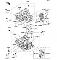 Crankcase Ninja ZX-6R 2012(ZX600RCF) - Kawasaki純正部品