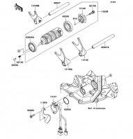 Gear Change Drum/Shift Fork(s) Ninja ZX-6R 2012(ZX600RCF) - Kawasaki純正部品