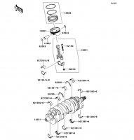 Crankshaft/Piston(s) Ninja ZX-6R 2012(ZX600RCF) - Kawasaki純正部品